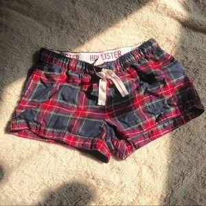 hollister flannel shorts